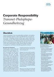 Factsheet Transnet-Phelophepa-Gesundheitszug - Roche