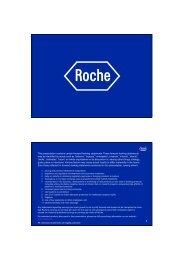 2 This presentation contains certain forward-looking ... - Roche