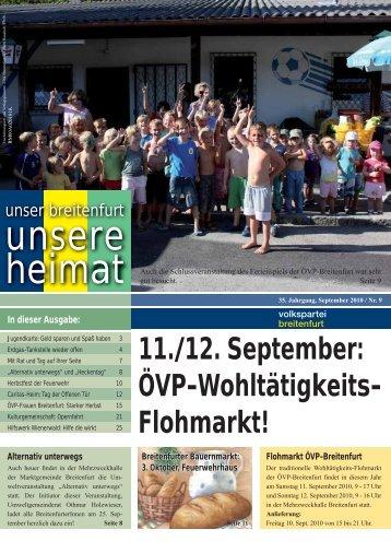 Övp-Wohltätigkeits Flohmarkt! - VP Breitenfurt