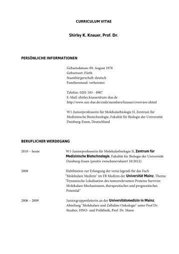 Shirley K. Knauer, Prof. Dr. - Roche in Deutschland