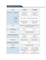 Panasonic PT-RZ370 spec sheet - Roche AV