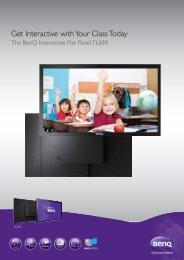 BenQ LED touchscreen spec sheet - Roche AV