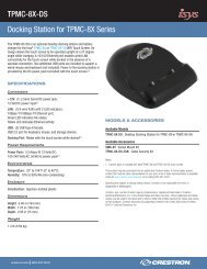 Product Specifications: TPMC-8X-DS - Crestron