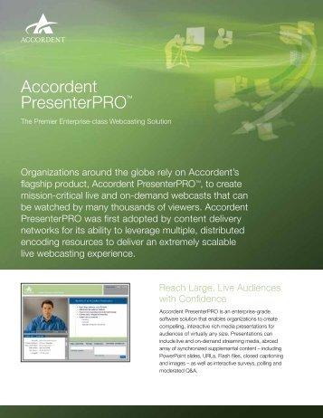 Accordent PresenterPRO™ - Roche AV