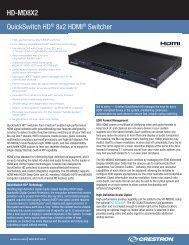 Product Specifications: HD-MD8X2 - Roche AV