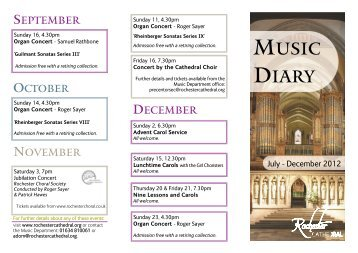 MUSIC DIARY - Rochester Cathedral