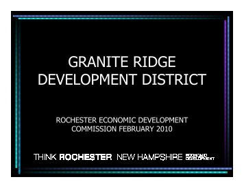 GRANITE RIDGE DEVELOPMENT DISTRICT - Rochester