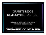 GRANITE RIDGE DEVELOPMENT DISTRICT - Rochester