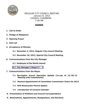 REGULAR CITY COUNCIL MEETING January 8, 2013 ... - Rochester