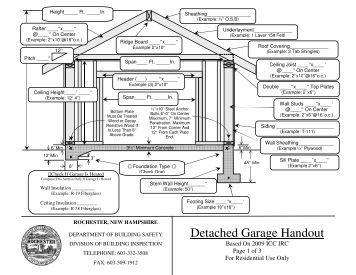 Detached Garage Handout - Rochester