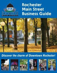 Rochester Main Street Business Guide