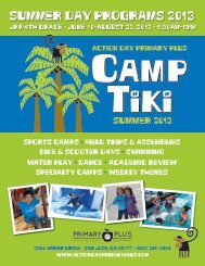 Camp Tiki Brochure - Action Day Primary Plus