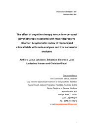 The effect of cognitive therapy versus interpersonal ... - CTU