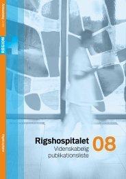 Videnskabelige Publikationer 2008 - Rigshospitalet