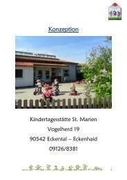 Konzeption des Kindergartens - Eckental