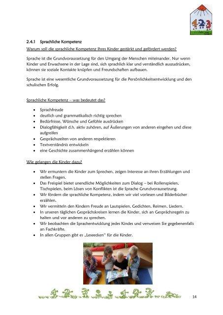 Konzeption des Kindergartens - Eckental