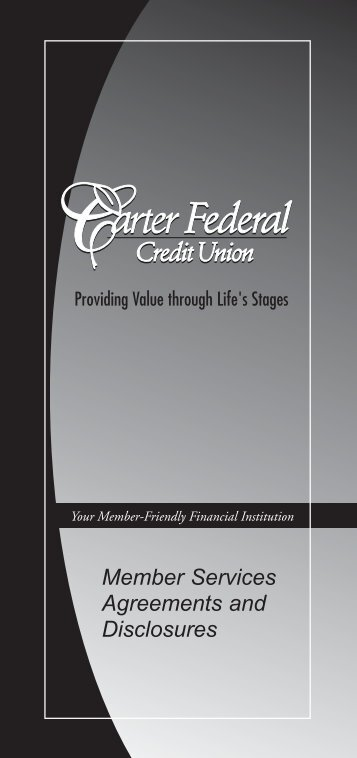 Member Services Agreements and Disclosures - Carter Federal ...