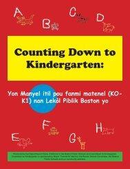 Counting Down to Kindergarten: - Countdown to Kindergarten