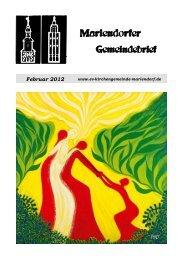 Februar 2012 - Evangelische Kirchengemeinde Mariendorf