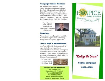 Residential Hospice - Hospice Greater Saint John