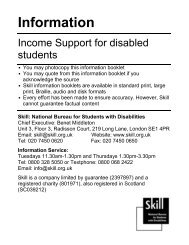 Income support and disabled students - Trailblazers