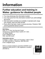 Further education and training in Wales - Trailblazers