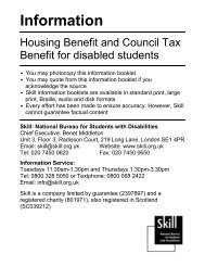 Housing benefit and disabled students - Trailblazers