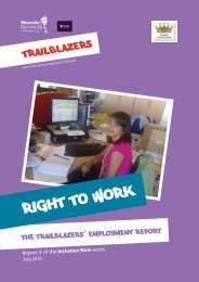 Right to Work report - Trailblazers
