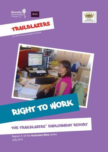 Right to Work report - Trailblazers