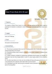 Robot Prison Break 2012 - ROCI - Robotic Organizing Committee ...