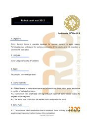 Robot push out 2012 - ROCI - Robotic Organizing Committee ...