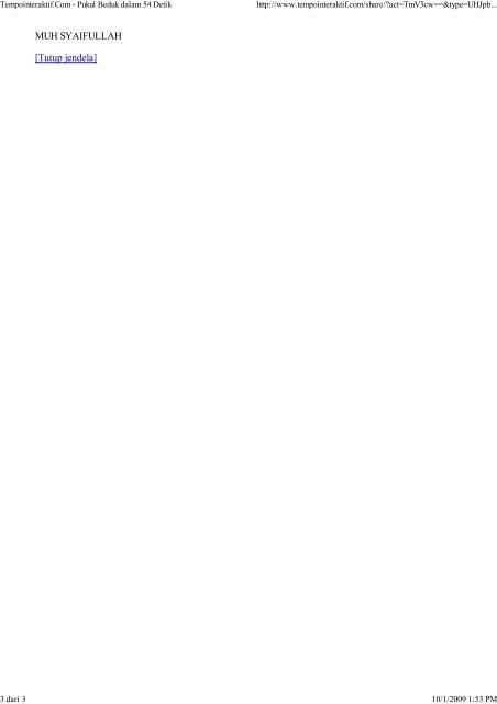 Pukul Beduk dalam 54 Detik - ROCI