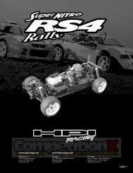 HPI Super Nitro RS4 Rally Manual - CompetitionX.com
