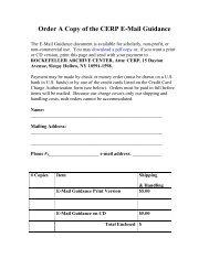 E-Mail Guidelines order form - The Rockefeller Archive Center