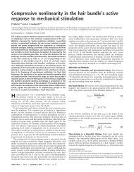Compressive nonlinearity in the hair bundle's active response to ...
