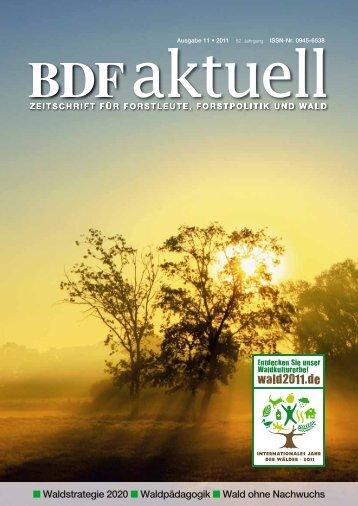 Waldstrategie 2020 Waldpädagogik Wald ohne Nachwuchs - BDF