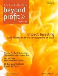 Impact Investing - Beyond Profit