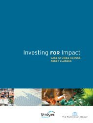 Investing FOR Impact - The Parthenon Group