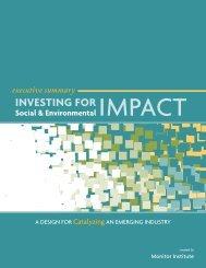 investing for - The Rockefeller Foundation
