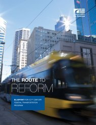 The Route to Reform - Transportation for America