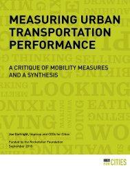 measuring urban transportation performance - The Rockefeller