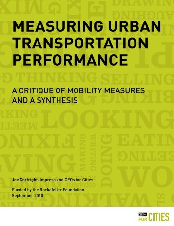 measuring urban transportation performance - The Rockefeller