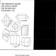 RF Annual Report - 1973 - The Rockefeller Foundation