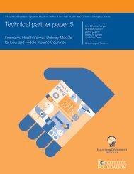 Technical partner paper 5 - The Rockefeller Foundation