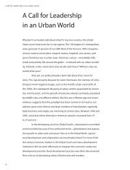 A Call for Leadership in an Urban World - The Rockefeller Foundation