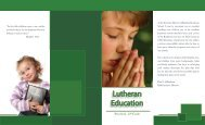 a listing of all Lutheran Schools in the vicinity. - Rockford Lutheran ...
