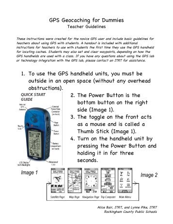 Garmin Gps 72 Steps For The Geocaching Exercise Basically For