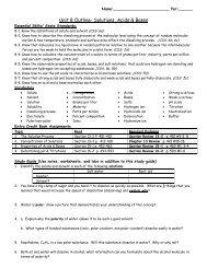 Unit 8 Outline/ Study Guide