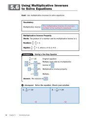 Using Multiplicative Inverses to Solve Equations \3