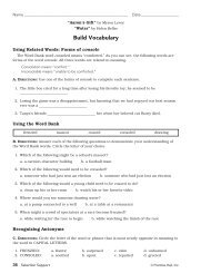 Selection Support: Skills Development Workbook; Unit 2: Reaching ...